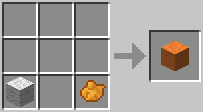 Minecraft Orange Wool Crafting Recipe